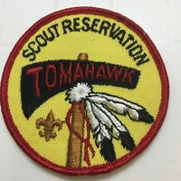 BSA Boy Scouts Patch Round Scout Reservation Tomahawk Wisconsin Feathers