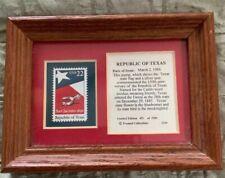 Republic Texas San Jacinto Star Silver Spur Flag 1836 Framed Ltd 451 Of 2500