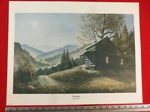 "Art Print S/N ""Moonglow"" by Russell May.  S/N 123/2999  Paper size 22"" W & 17"" T"