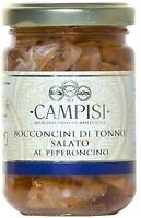 CAMPISI BOCCONCINI DI TONNO SALATO AL PEPERONCINO 140 GRAMMI