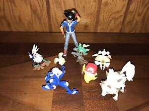Nintendo Pokemon TOMY Ash Pikachu Figure LOT (8) 2017 2018 Vinyl Loose
