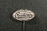 Antiques Pin Badge BUDVAR White Traditional Czech beer Ceske Budejovice