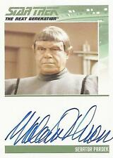 "Complete Star Trek TNG S2 - Malachi Throne ""Senator Pardek"" Autograph Card"