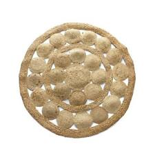 Tappeto tondo in juta naturale intrecciata - diametro 90 cm U725
