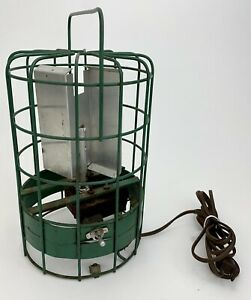 RARE Vtg Wire Cage Industrial Room 360° Air Circulator Vertical Room Fan VIDEO