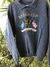 Ryder Cup Kiawah Island SZ XL/XXL 100% Cotton Navy Blue Washable Sweater