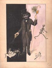 L.D.B. Aquarelle - 1909. Squelette