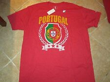 PORTUGAL AUTHENTIC SOCCER T SHIRT SIZE MEN (XXL) NWT $25 RED COOL LOGO VERY SOFT
