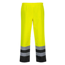PortWest Men Hi-Vis Two Tone Traffic Trousers Multi Color and Size S486