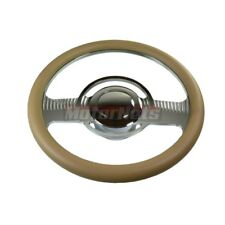 Beige Classic Camaro Impala Nova Hot Rod Steering Wheel Aluminum Horn Adapter