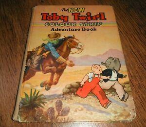THE NEW TOBY TWIRL COLOUR STRIP ADVENTURE 1950'S CHILDREN'S BOOK
