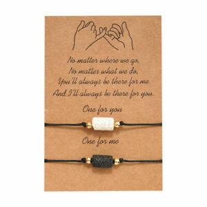 Pinky Promise Bracelet Lava Stone (2 Pcs)