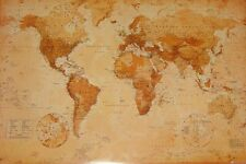 """WORLD MAP GIANT POSTER """"1 METER BY 1.4 METER"""" VINTAGE """"LICENSED"""" BRAND NEW"""