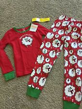 NEW NWT Gymboree Holiday Christmas Boy Girl Sheep Party Long Johns Pajamas PJ 6