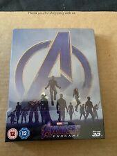 Avengers Endgame (2019) Blu Ray Steelbook 3D & 2D Marvel NEW & SEALED