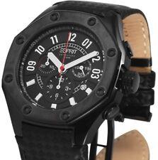 Herren Armbanduhr Chronograph Anthrazit/Schwarz Leder EL101291F03 ESPRIT UVP 219