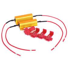 2x Lastwiderstände inkl. 4 Stromklemmen 50 Watt 10 Ohm für LED SMD Blinker