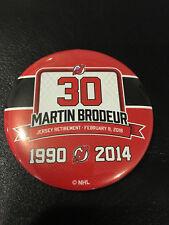 Martin Brodeur Jersey Banner Retirement Night Pin Button NJ Devils #30