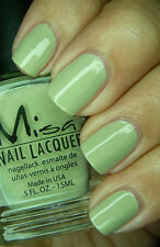 NEW! MISA Nail Enamel Polish Lacquer GOT IT MADE IN THE SHADE ~ MURKY GREEN
