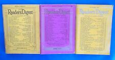 LOT of 3 Readers Digest Magazines I36 VGN Oct 1937, Apr 1939, Oct 1942