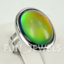 Classic Vintage Oval Mood Ring Multi Colored Change Retro Free Color Chart