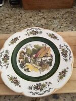 Wood and Sons Ascot Service Dinner Plate Vintage Antique Alpine White Ironstone