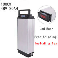 48V 20Ah 1000W LED Rear Rack Carrier E-bike Li-ion Battery for Electric Bicycle