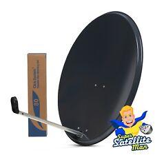 80cm Satellite Dish Hi-gain Pole Mount Fittings for Sky Plus HD Freesat TV