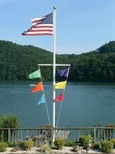"35' Nautical Flagpole Aluminum Single Mast  35' X 6"" Flag Pole Made In USA"