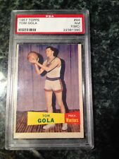 1957	Topps	Tom Gola Rookie Card #44	PSA 7 (MC) Warriors