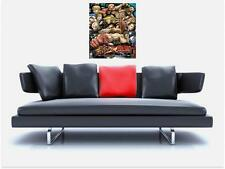 """STREET FIGHTER TRIBUTE BORDERLESS MOSAIC TILE WALL POSTER 35"""" x 25"""" RETRO GAMING"""