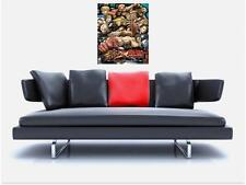 "Street Fighter Tributo sin bordes de azulejo mosaico Pared Poster 35 ""X 25"", Retro Gaming"