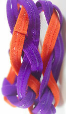NEW Purple Orange Grippy Bands Headband Hair Sports Soccer Softball Sweat Tigers