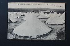CARTOLINA antica CAMP MILITARE LA parete divisoria - il tende campeggiare