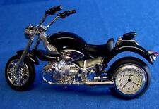 WILLIAM WIDDOP BLACK BMW STYLE MOTORBIKE MOTORCYCLE CLOCK 9042BK
