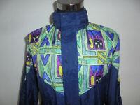 vintage 90s Nylon Regenjacke oldschool gemustert crazy pattern Jacke 90er L