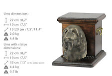 Bearded Collie, dog urn made of cold cast bronze, ArtDog, Ca - kind2