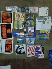 New listing Junk drawer lot Cards Signs Toys Costumes Pool