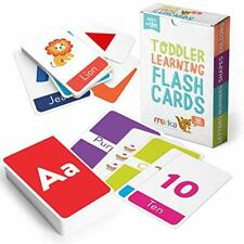Educational Flash Cards for Toddlers Learn Letters Colors Shapes Number 58 Cards
