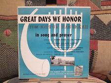 "Great Days We Honor In Song and Prayer (Yom Kippur and Hanukkah) - rare 10"" LP"