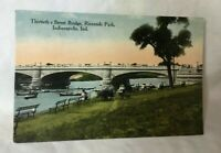 *Early 30TH STREET BRIDGE RIVERSIDE PARK INDIANAPOLIS INDIANA POSTCARD