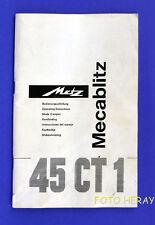 Metz 40 CT 1 originale istruzioni in tedesco, English & altre lingue