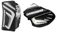 Warrior Messiah hockey pro goalie blocker glove catcher sr LH black white silver