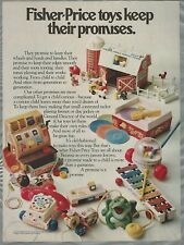 1981 FISHER PRICE advertisement, kids & toddlers toys, Busy Bee etc