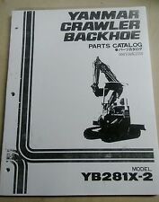 YANMAR Excavator Backhoe YB281X-2 Parts Manual