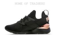 Puma Muse 2 Satin Strap Black Metallic Women's Shoes All Sizes