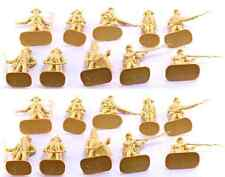 Accurate British Infantry set #1 - 20 unpainted 54mm toy soldiers in cream color