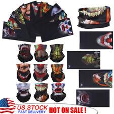 9pcs Skull Ghost Biker Hood Face  Motorcycle Ski Balaclava CS Sport Helmet