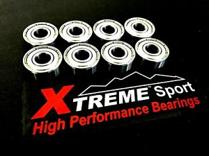 Xtreme UK 608 SWISS SKATEBOARD RATED BEARINGS CHROME-STAINLESS-CERAMIC HYBRID