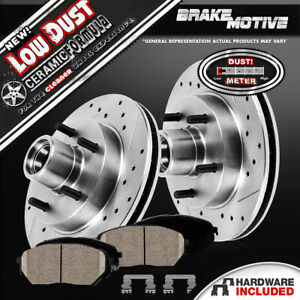 Front Brake Rotors and Ceramic Pads 1999 2000 2001 2002 FORD E-250 ECONOLINE